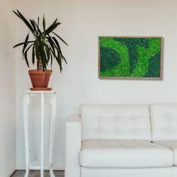 panel mech chrobotek na ścianę w drewnianej ramie