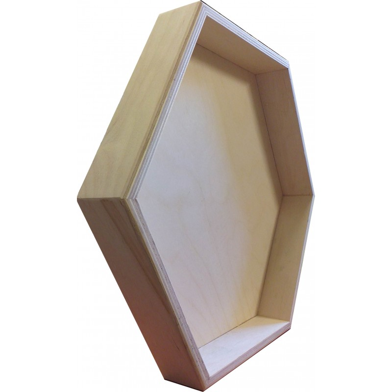 ramka heksagon półka